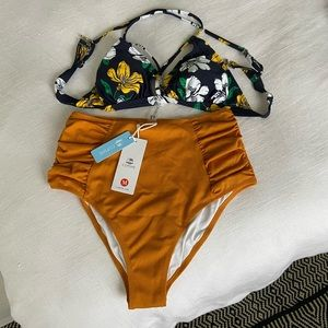 Cupshe NWT 2-Piece Highwaisted Swimsuit
